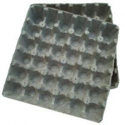 Fiber egg trays
