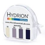 Chlorine test strips tell you whether your sanitizer mix is in the right range.